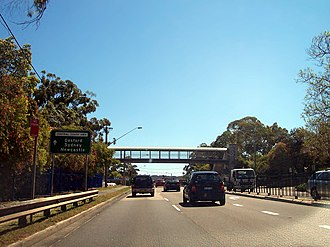 East Gosford, New South Wales - Esat Gosford Pedestrian Bridge, on the Central Coast Highway