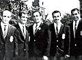 Ebrahim Seifpour, Abdollah Movahed, Mohammad Ali Sanatkaran, Mohammad Ali Farrokhian, Mansour Mehdizadeh 1965.jpg