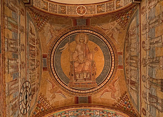 Ecclesia and Synagoga - Ecclesia enthroned, 12th century, Prüfening Abbey, Bavaria