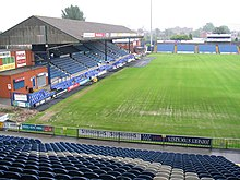 View from Edgeley Park's Cheadle End during pitch renovations.