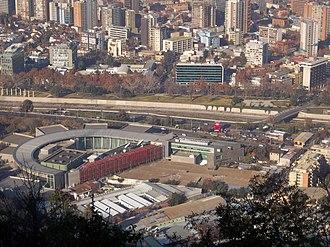 Televisión Nacional de Chile - TVN headquarters in Santiago, Chile.