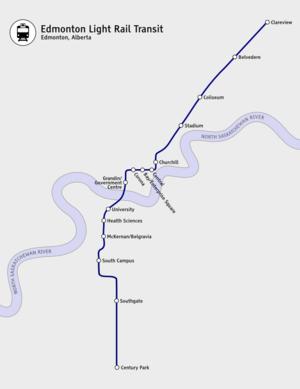 Capital Line - Image: Edmonton LRT