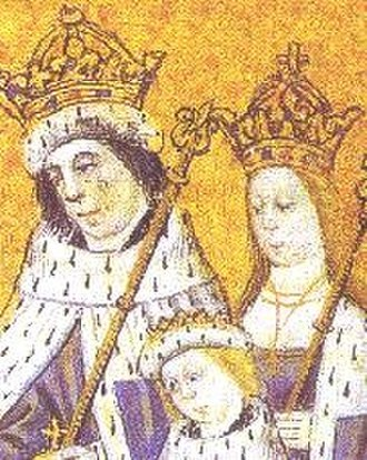 Elizabeth Woodville - Elizabeth as queen, with Edward and her oldest son