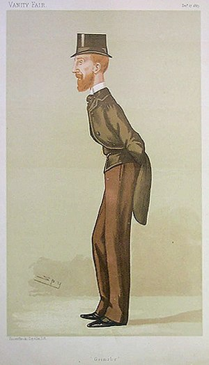 "Edward Heneage, 1st Baron Heneage - ""Grimsby"" Heneage as caricatured by Spy (Leslie Ward) in Vanity Fair, December 1887"