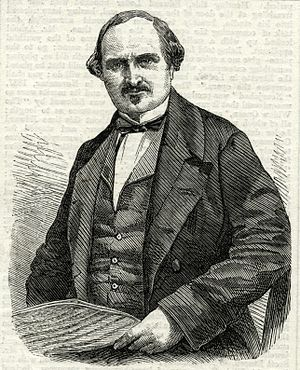 Edward Loder - Portrait of Edward James Loder as it appeared on the first page of the London Illustrated News, 27 November 1858