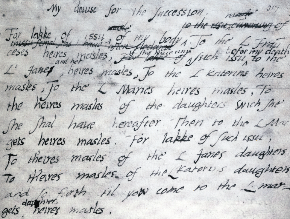 Edward VI's 'devise for the succession'