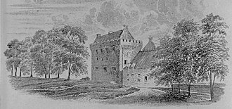 Eglinton Castle - Eglintoune castle from the south, prior to the rebuild of 1805