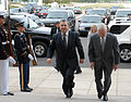 Ehud Barak and Robert M. Gates at the Pentagon, 10-2007.JPG