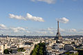 Eiffel Tower as seen from Arc de Triomphe 2012.jpg