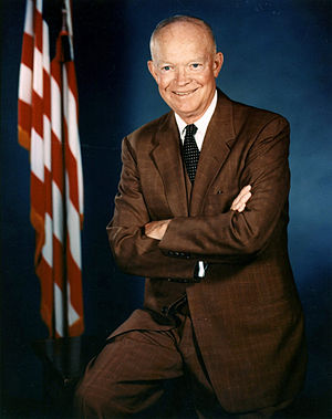 United States in the 1950s - Dwight D. Eisenhower, US President, 1953-1961.