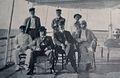 El coronel George R Colton y asistentes. Comision enviada por los EE UU para dministrar aduanas 1903.1906.jpg