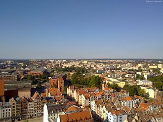 Elbląg - Panorama of the Old City in Elbląg