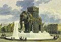 Elephant de la Bastille aquarelle de Jean Alavoine 2.jpg