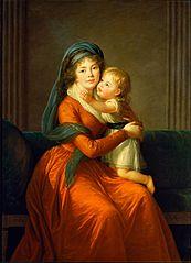 Portrait of princess Alexandra Golitsyna and her son Piotr