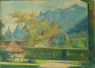 Vista de um Jardim