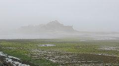Elizabeth Castle in mist Jersey