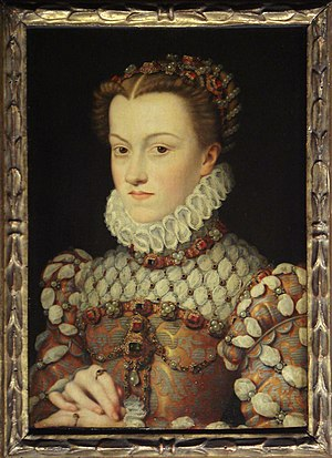 Elisabeth of Austria, Queen of France - Portrait by François Clouet, c. 1571