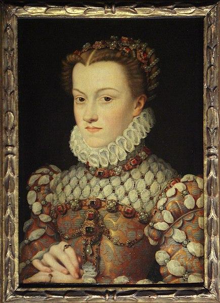François Clouet (1510-72): Elisabeth av Østerrike, ca 1571