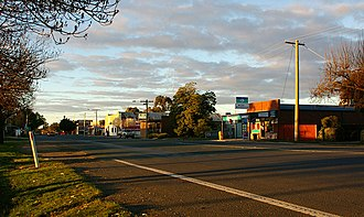 Elmore, Victoria - Looking north along Railway Place
