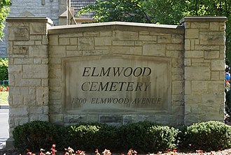 Elmwood Cemetery (Detroit, Michigan) - Image: Elmwood sign 2