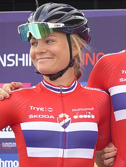 Emilie Moberg - 2018 UEC European Road Cycling Championships (Women's road race).jpg