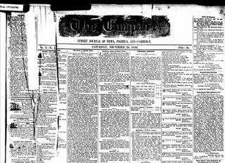 <i>Empire</i> (newspaper) 19th century newspaper published in Sydney, Australia