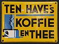 Enamel advertising sign, Ten Have's Koffie en thee.JPG