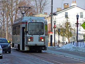 Media–Orange Street station - Route 101 trolley at the end of the line