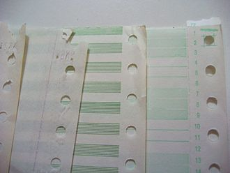 Continuous stationery - Continuous form paper edge perforations
