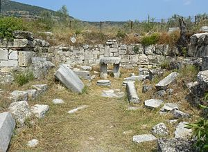The Amazing Race China 3 - The ruins of Epidaurus near Athens was the location of the first Detour.