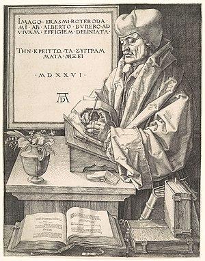 Portrait of Erasmus (Dürer) - Portrait of Erasmus, 24.8 x 19.1 cm. Metropolitan Museum of Art