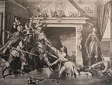 L'assassinio di Pompejus Planta, dipinto di Karl Jauslin