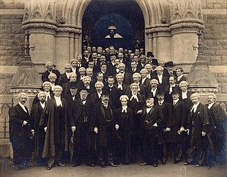 Ethel Benjamin - Ethel Benjamin (centre front) at the opening of Dunedin Law Courts in 1902