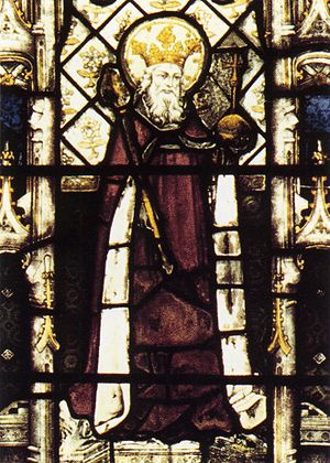 Æthelberht of Kent - Stained-glass window of Æthelberht from the chapel of All Souls College, Oxford