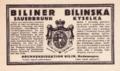 Etiketa Biliner Sauerbrunn - Bílinská kyselka 1899.png