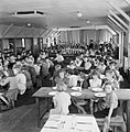 Evacuees in the dining hall of Marchant's Hill School, Hindhead, Surrey, 1944. D21631.jpg