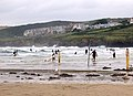 Evening surfers at high water, Polzeath - geograph.org.uk - 1469891.jpg