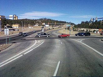 Colorado State Highway 74 - SH 74 intersection with US 40 (Swede Gulch Road) in El Rancho