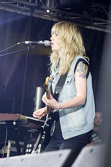 Ladyhawke performing at the Evolution Festival in Newcastle upon Tyne, England, on 25 May 2009
