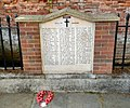 Ewell roll of honour outside Bourne Hall gates.jpg