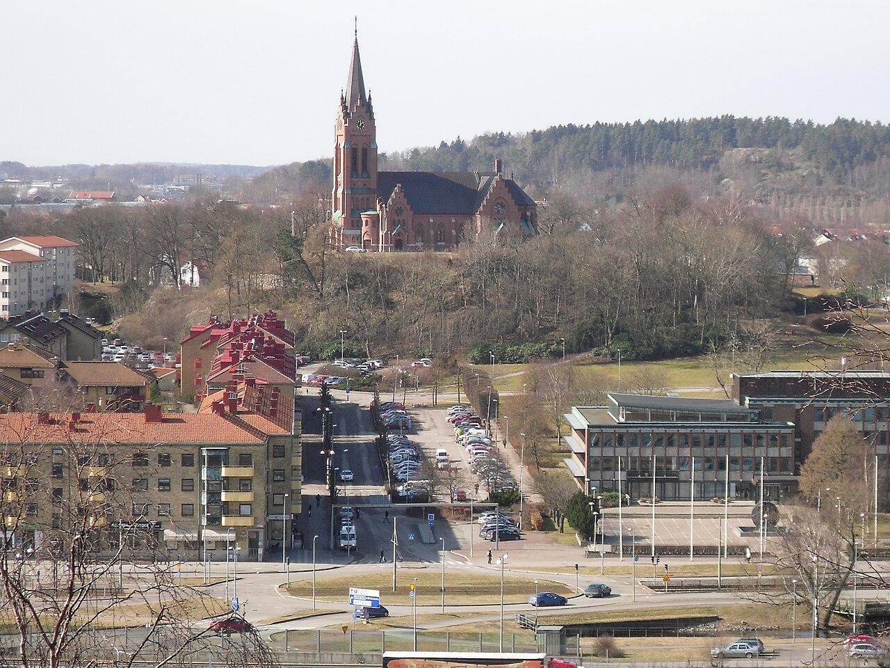 Vy ver Fssbergsdalen. I bakgrunden ses mittengrden i
