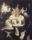 Füssli, Johann Heinrich - Titania liebkost den eselköpfigen Bottom - hi res.jpg