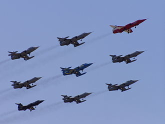 Aeritalia F-104S Starfighter - A formation of Italian F-104Ss