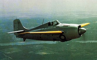 Grumman F4F Wildcat - An early F4F-3 with prop spinner and cowl guns