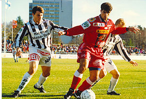 FC Jazz - Two-time Veikkausliiga top scorer Luiz Antônio in 1996.