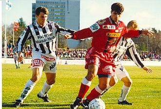 FC Jazz - Two-time Veikkausliiga top scorer Luiz Antônio in 1996.
