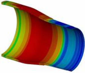 Expandable tubular technology - Image of Expanded Tubular FE Analysis