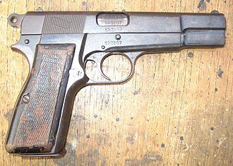 Browning Hi-Power - A FN Browning High Power, belonging to the Indonesian Marine Corps