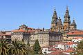 Fachada do Obradoiro e parte traseira do Pazo de Raxoi Santiago de Compostela-2.jpg