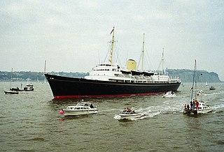 HMY <i>Britannia</i> Museum ship, former royal yacht of the British monarch